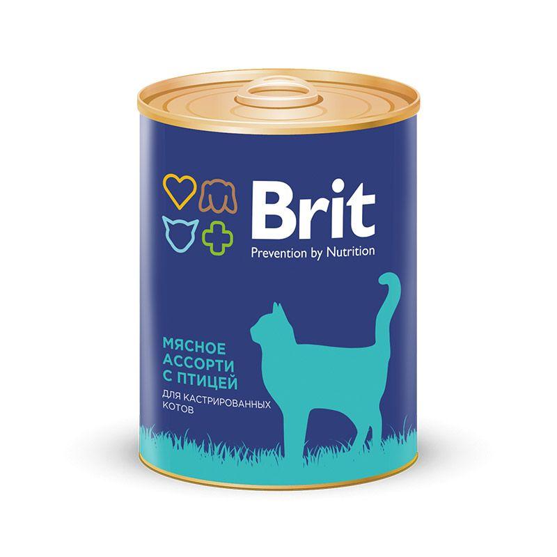 Консервы Brit Premium для кастрированных котов 340 г