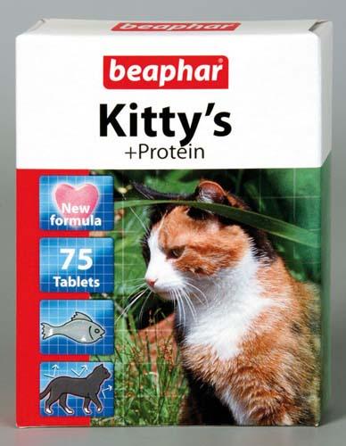 Витамины Beaphar Kitty's для кошек Сердечки, Протеин