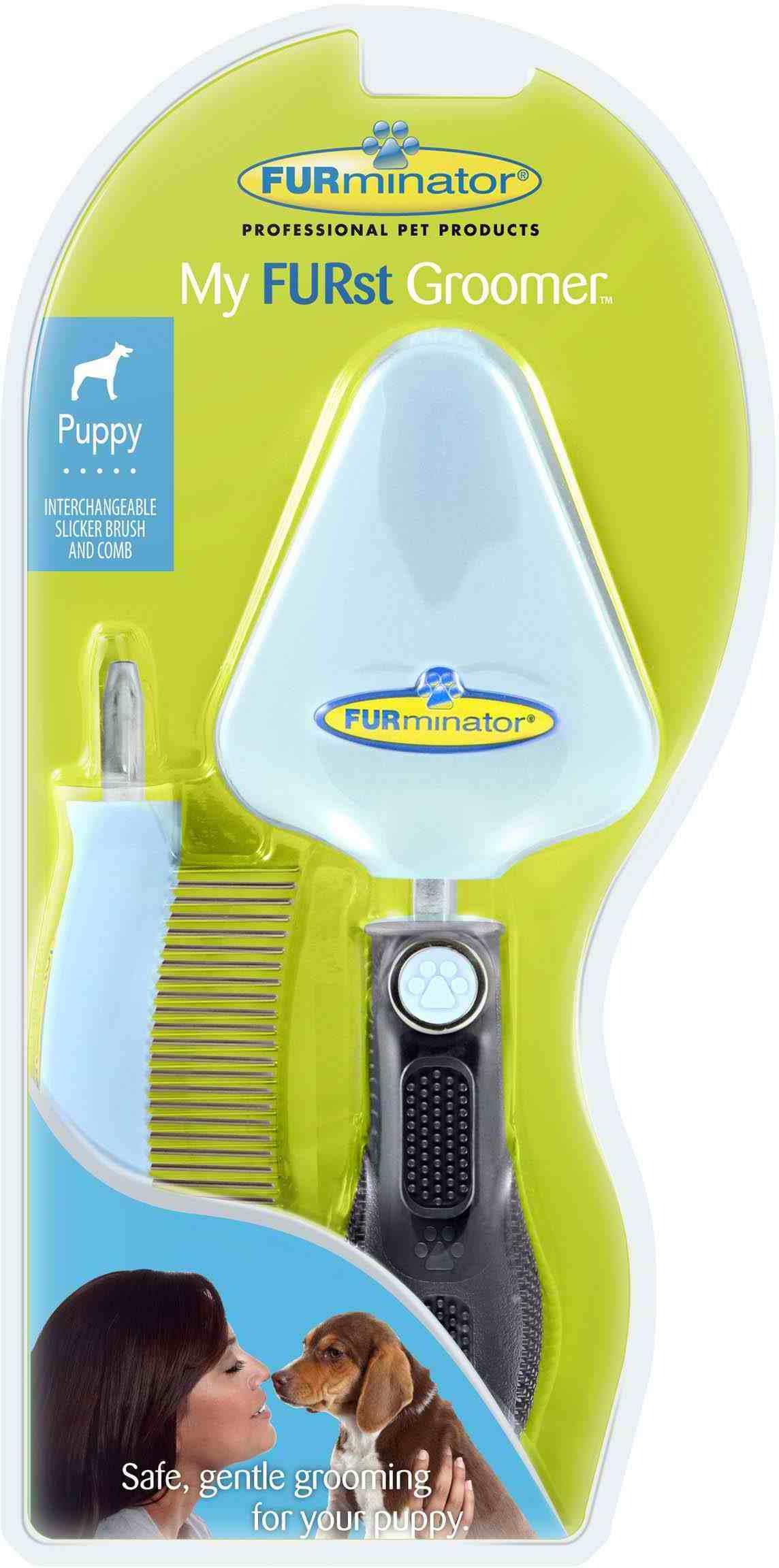 Набор FURminator My FURst Groomer сликер + расческа для щенка