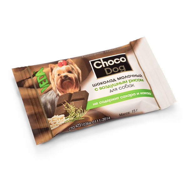 CHOCO DOG шоколад молочный с воздушным рисом