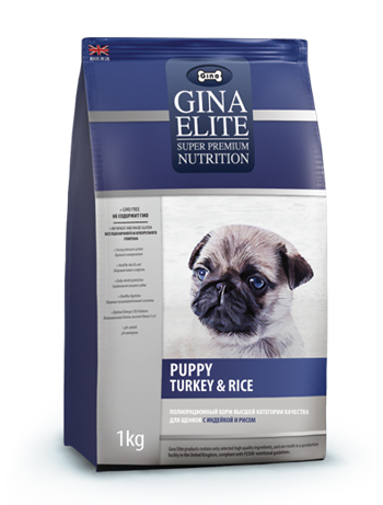 GINA Elite Puppy Turkey&Rice корм для щенков