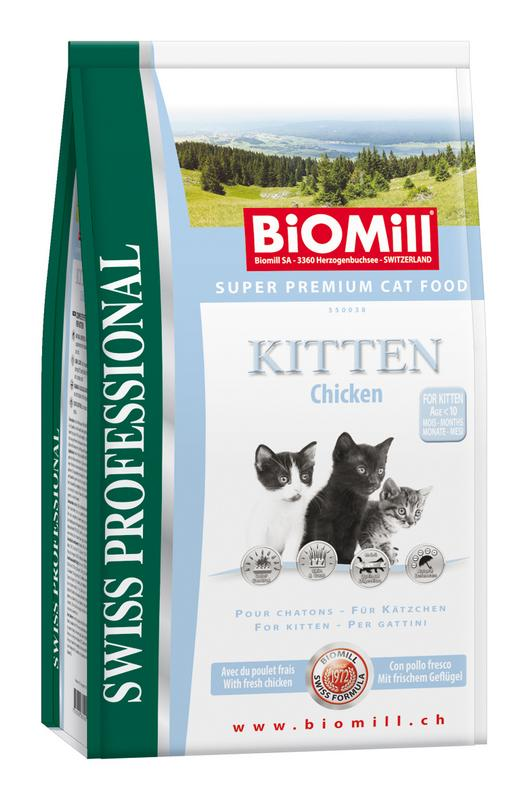 Сухой корм Biomill Swiss Professional Kitten для котят и беременных кошек