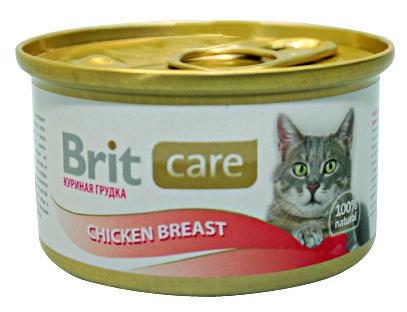 Консервы Brit Care Chicken Breast с куриной грудкой для кошек