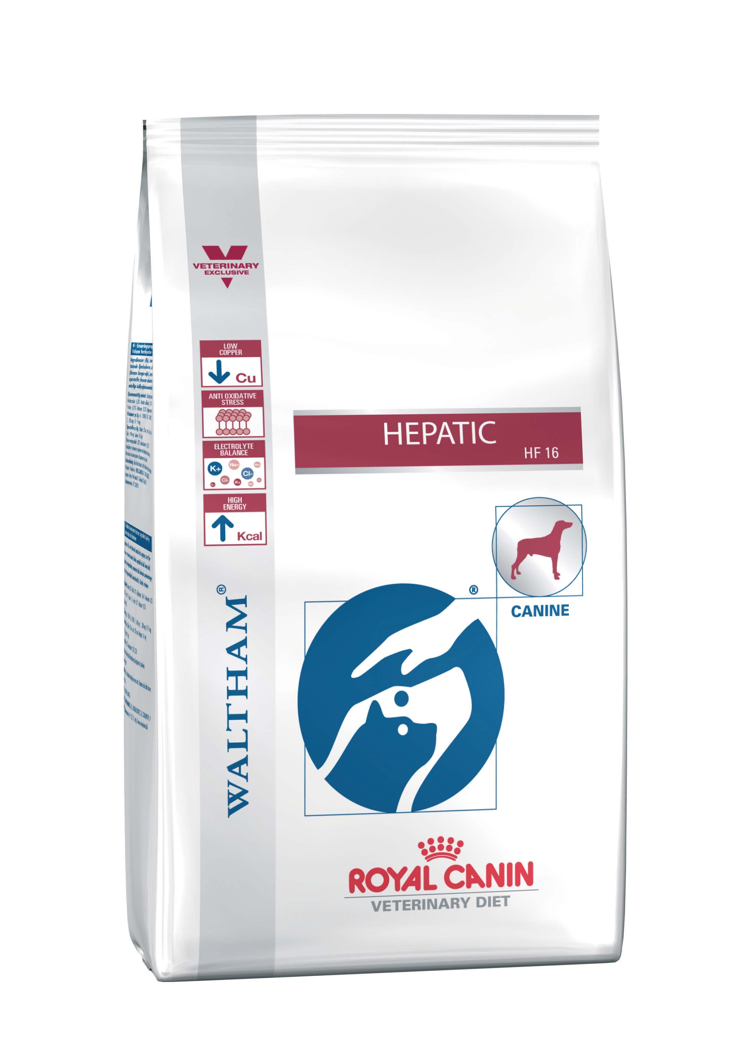 Сухой корм Royal Canin Hepatic HF16 для собак при заболеваниях печени