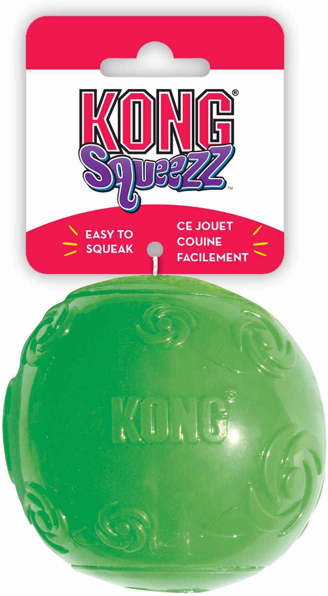 Игрушка Kong Squeezz Мячик резиновый с пищалкой для собак