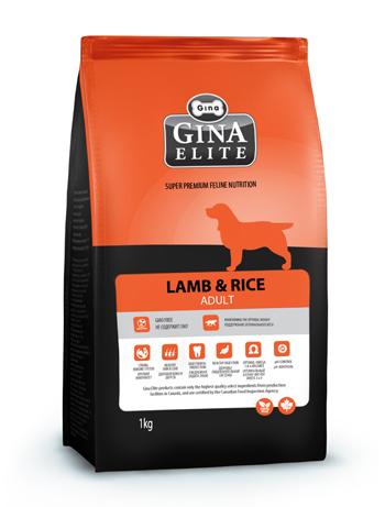 GINA Elite Lamb & Rice корм для собак, склонных к пищевым аллергиям