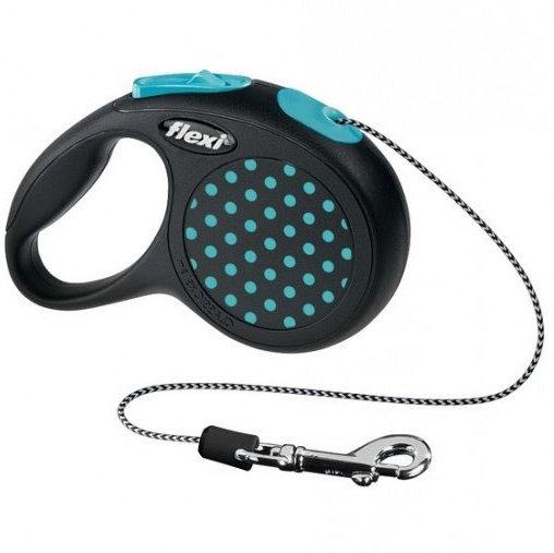 Рулетка Flexi Design  для собак XS(трос) 3м Голубой