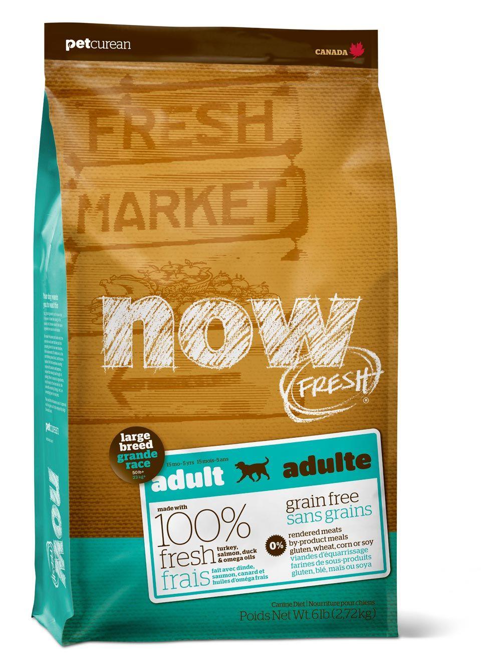 Сухой корм Now Fresh Large Breed Adult беззерновой с индейкой, уткой и овощами для взрослых собак крупных пород