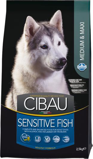 Сухой корм Farmina Cibau Sensitive Medium/Maxi Fish гипоаллергенный для взрослых собак средних и крупных пород