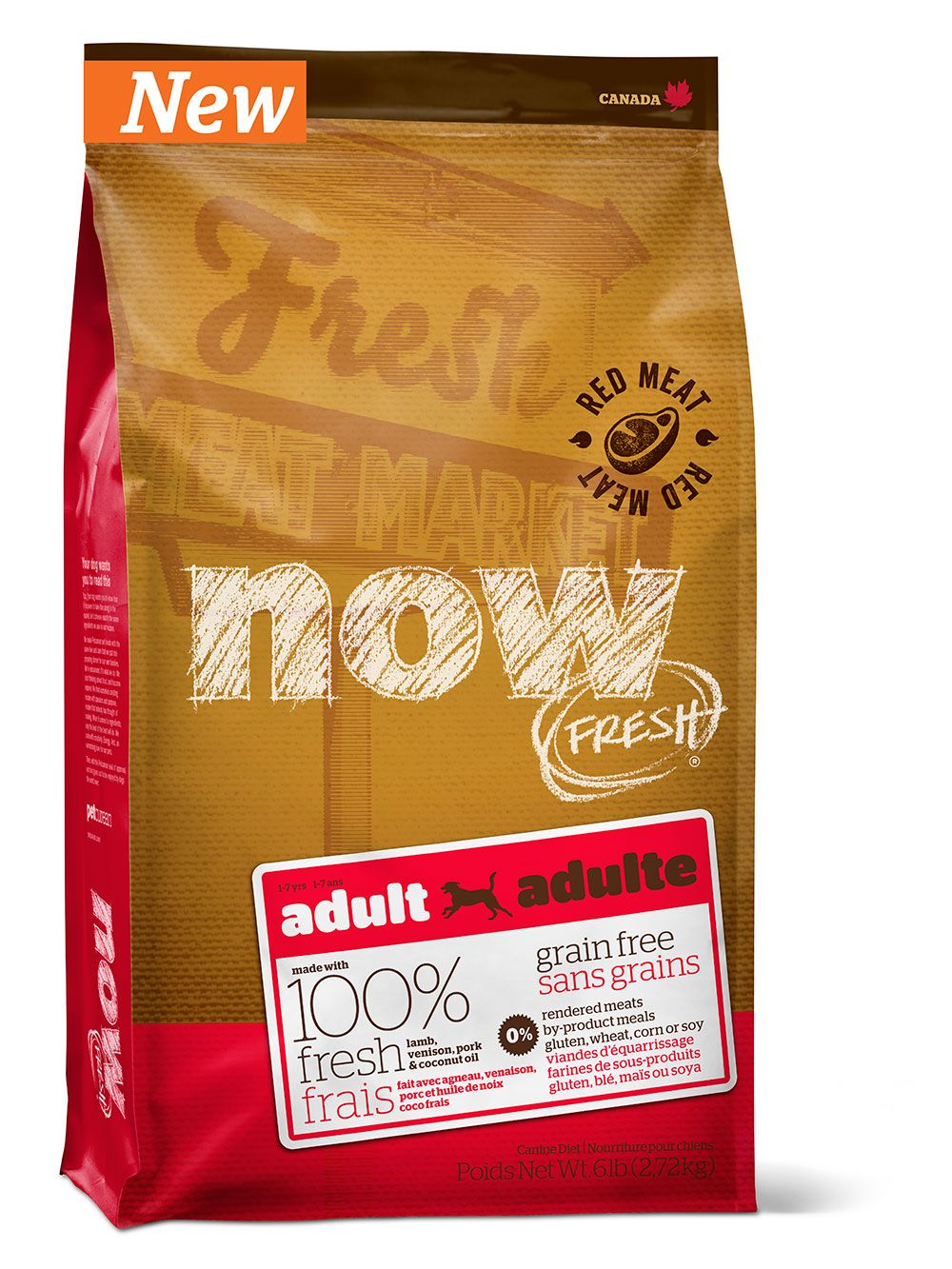 Сухой корм Now Fresh Adult беззерновой с ягненком и олениной для взрослых собак