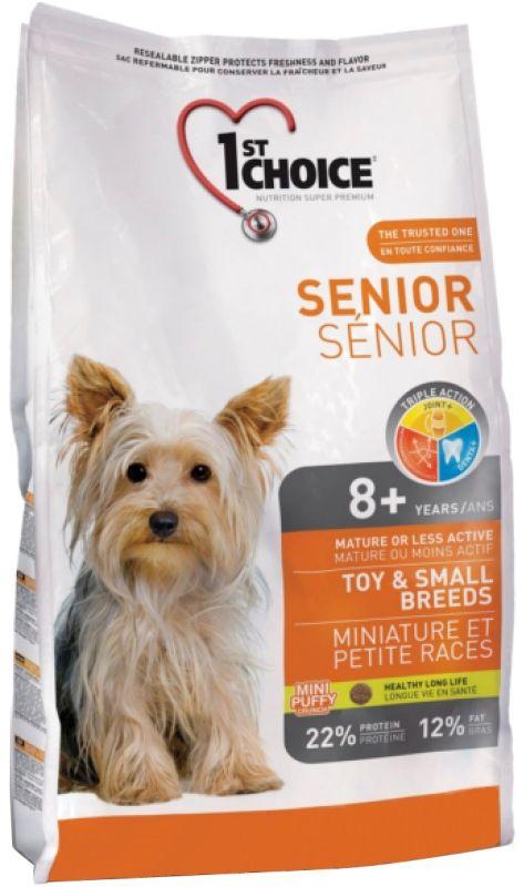 Сухой корм 1st Choice Senior Toy&Small для пожилых собак миниатюрных и мелких пород