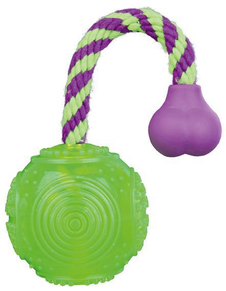 Игрушка Trixie Мяч на верёвке плавающий для собак