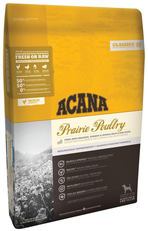 Сухой корм Acana Classics Prairie Poultry с птицей для собак всех пород и возрастов