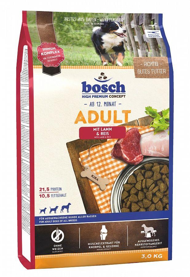 Сухой корм Bosch Adult Lamb&Rice ягненок с рисом для взрослых собак