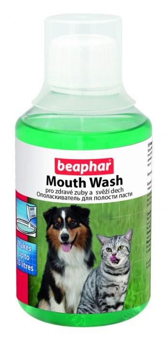 Жидкость Beaphar Mouth Wash для чистки зубов собак и кошек 250 мл