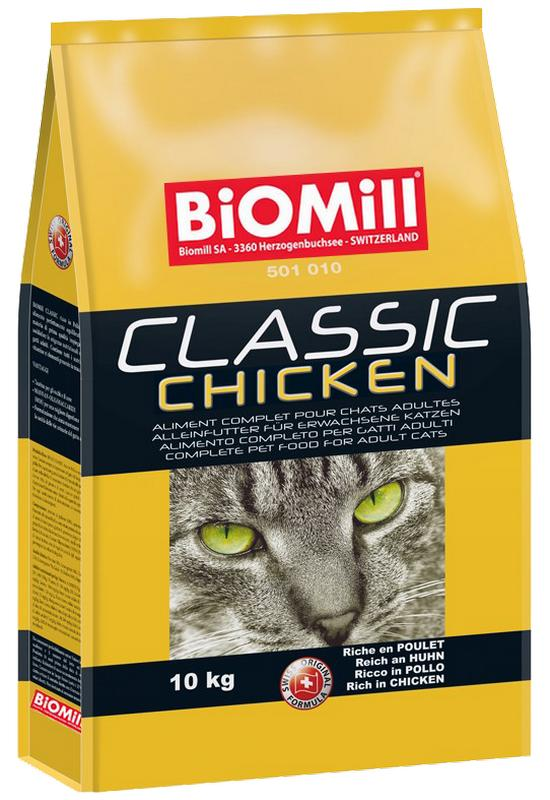 Сухой корм Biomill Cat Classic Chicken с курицей для кошек от 8 недель