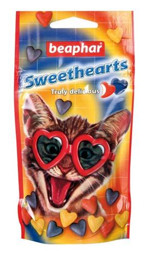 Сердечки Beaphar Sweethearts с моллюсками и ракообразными для кошек 150 шт