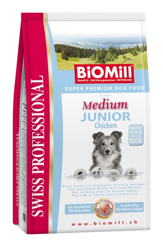 Сухой корм Biomill Swiss Professional Medium Junior для щенков средних пород