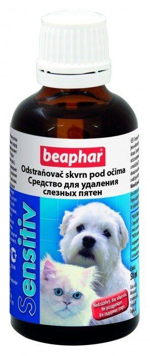 Лосьон Beaphar Sensitiv для удаления слезных пятен у кошек и собак 50 мл