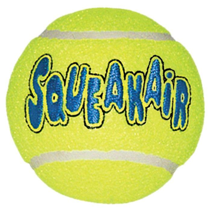 Игрушка Kong Air Dog Squeaker Ball Мячик теннисный очень маленький для собак 4 см 3шт