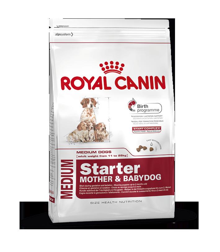 Сухой корм Royal Canin Medium Starter для новорожденных щенков средних пород