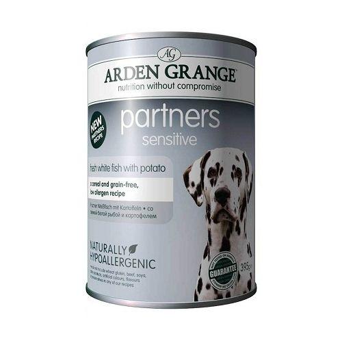 Консервы Arden Grange Partners Sensitive для собак с чувствительным желудком и кожей 395 г