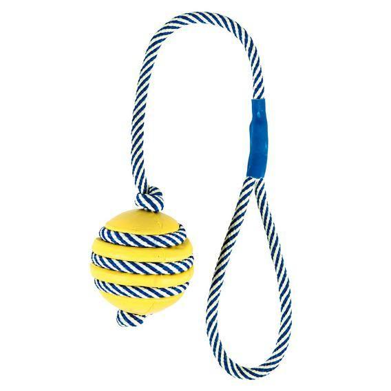 Игрушка Trixie Мяч со светящейся веревкой для собак