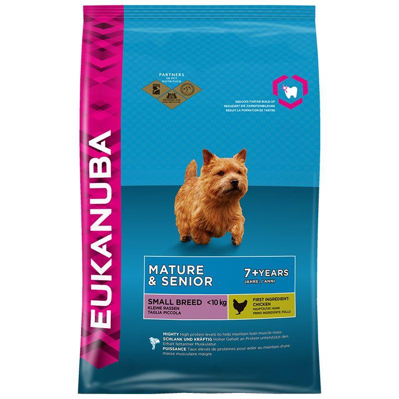 Сухой корм Eukanuba Mature&Senior Small Breed для зрелых и пожилых собак мелких пород