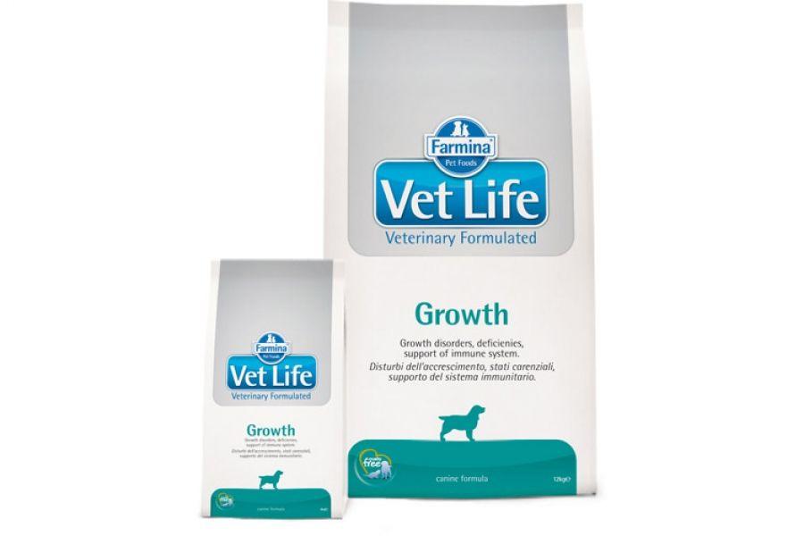 Сухой корм Farmina Vet Life Dog Growth для восстановления щенков с нарушением роста
