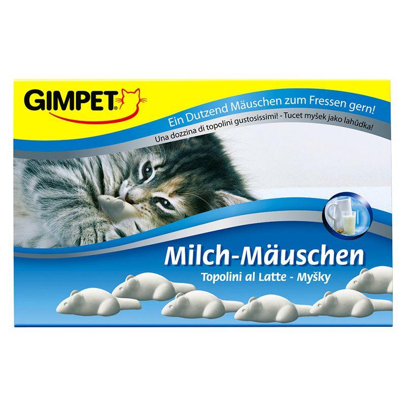 Подарочные молочные мышки для кошки Gimpet, 12 шт