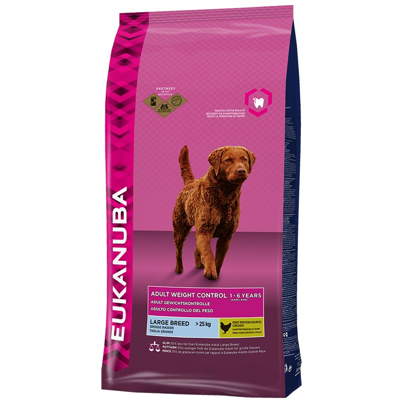 Сухой корм Eukanuba Adult Weight Control Large Breed для собак крупных пород, склонных к набору веса