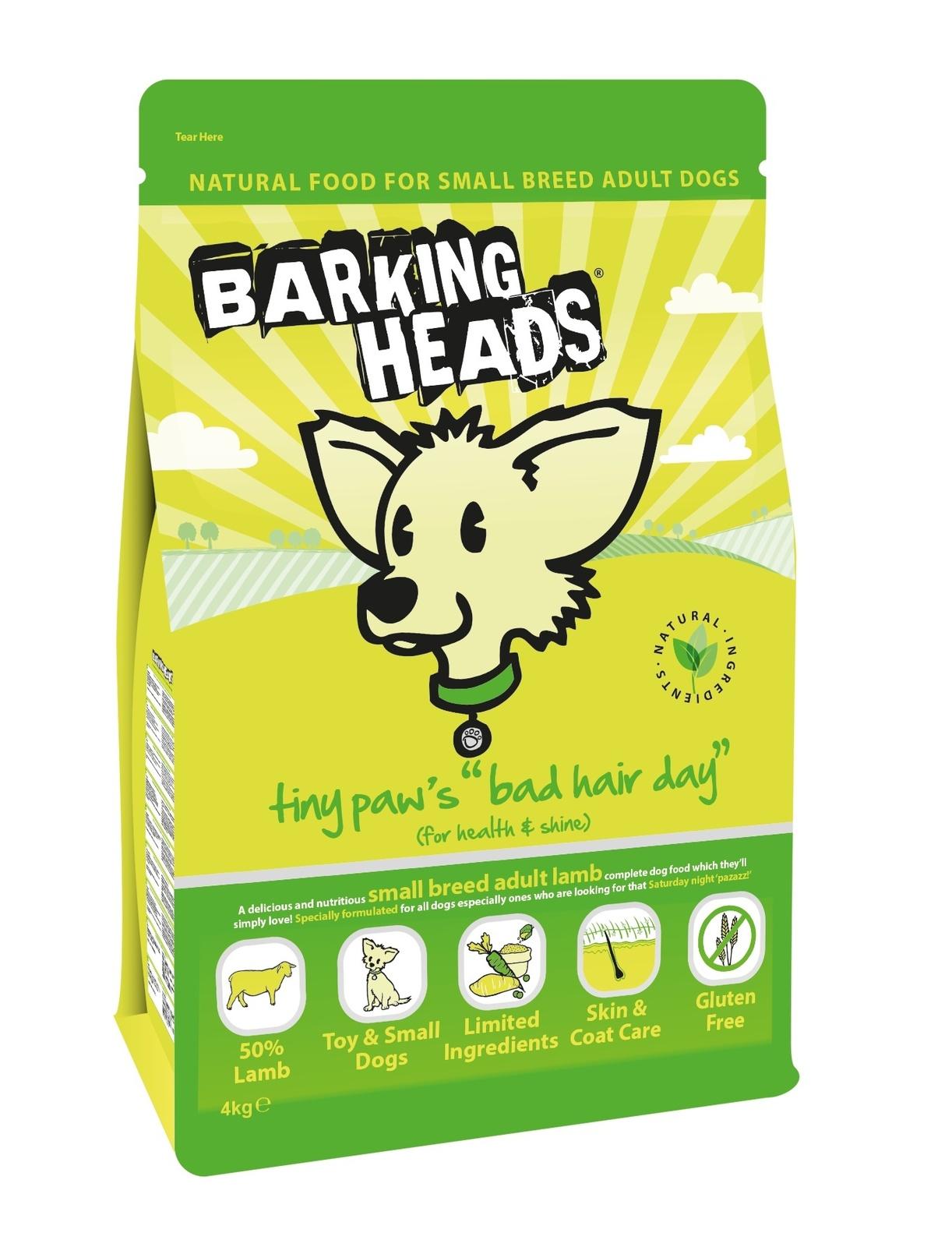 """BARKING HEADS корм для собак Малых пород с Ягненком и Рисом """"Роскошная шевелюра для мелколапого"""""""