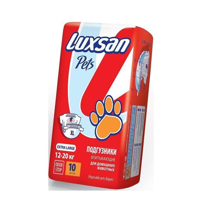 Подгузники впитывающие Luxsan Pets для домашних животных XL 12-20 кг