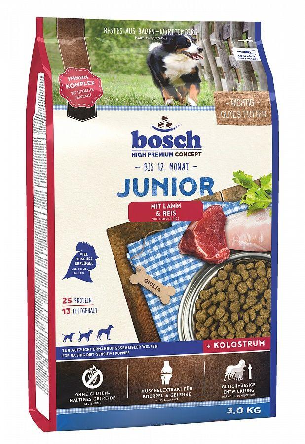Сухой корм Bosch Junior Lamb&Rice с ягненком и рисом для щенков