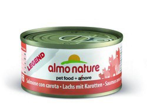 Консервы Almo Nature Legend с лососем и морковью для взрослых кошек