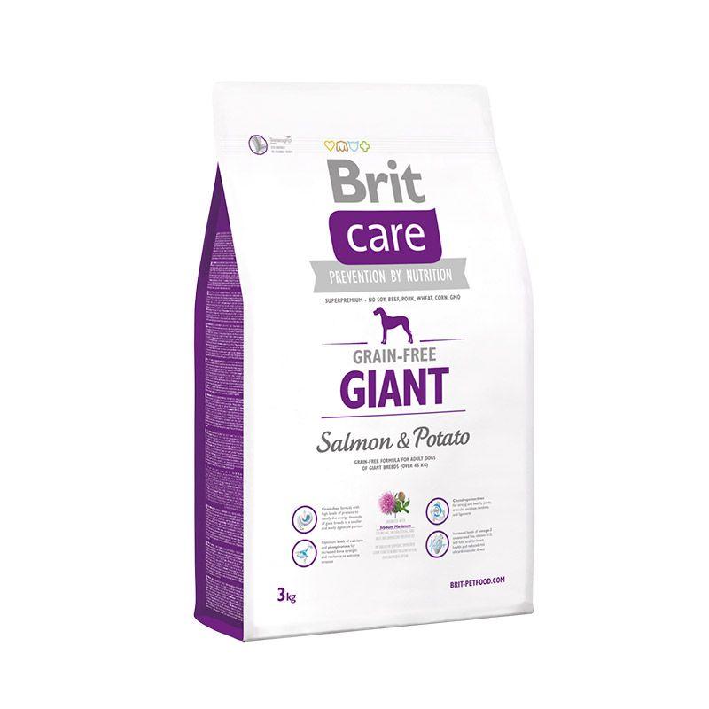 Сухой корм Brit Care Salmon&Potato Giant с лососем и картофелем беззерновой для взрослых собак гигантских пород