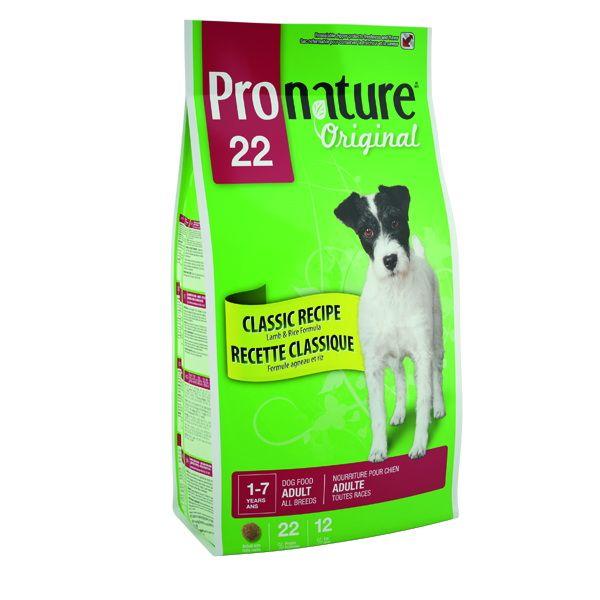 Сухой корм Pronature Original 22 с ягненком и рисом для собак