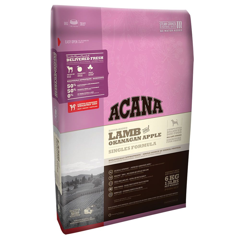 Сухой корм Acana Singles Lamb беззерновой гипоаллергенный для собак всех пород с ягнёнком