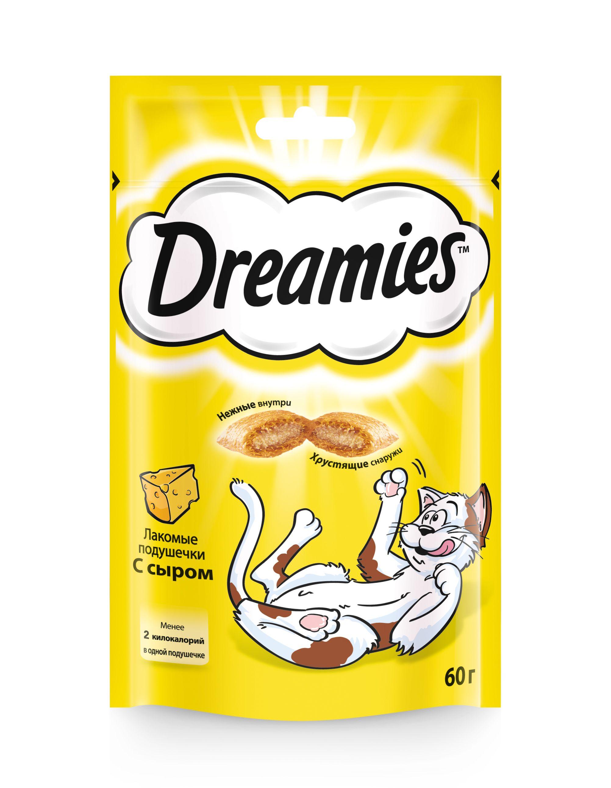 Лакомство Dreamies для кошек с сыром 60 г