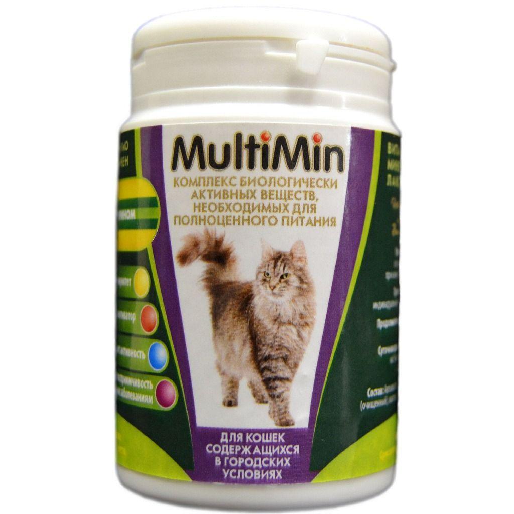 Витаминно-минеральное лакомство MultiMin для кошек, содержащихся в городских условиях (порошок)