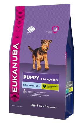 Сухой корм Eukanuba Puppy Large Breed для щенков крупных пород (1-24 мес)