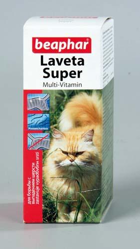 Витамины Beaphar Laveta Super для кошек для шерсти 50 мл